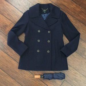 J. Crew Navy Pea Coat